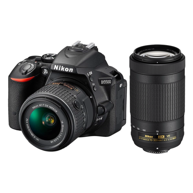 Nikon D5500 + 18-55 AF-P VR + 70-300mm AF-P DX VR