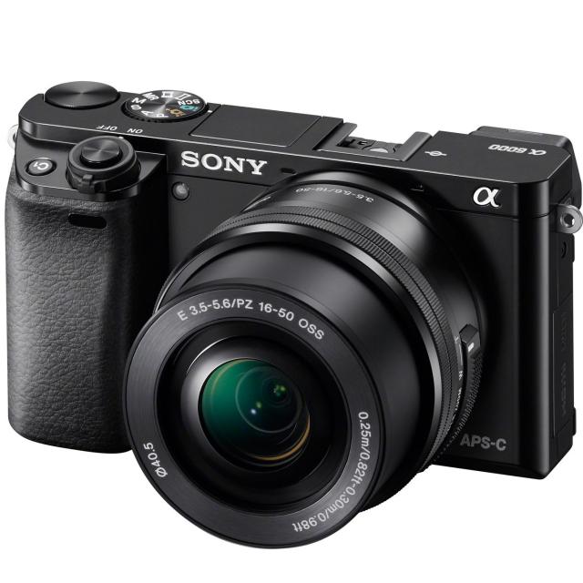 Sony Alpha A6000 + 16–50mm, black
