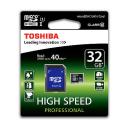 Toshiba SDHC 32 GB Class 10 + adapter