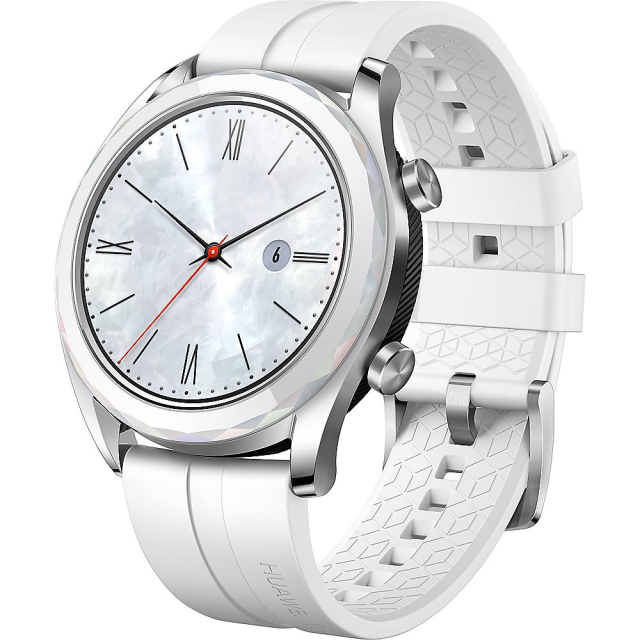 Huawei Watch GT Ella Elegant Edition, Stainless Steel/White