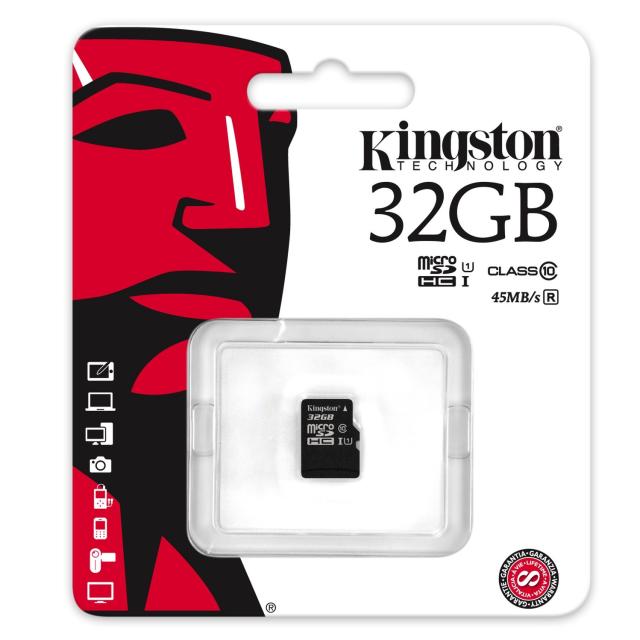 Kingston micro SDHC 32GB  UHS-I class 10