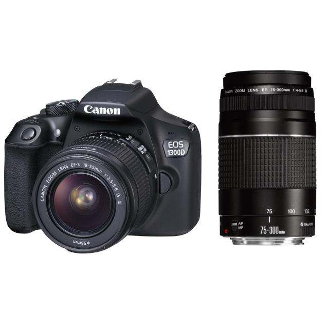 Canon EOS 1300D + 18-55 IS II + 75-300 III
