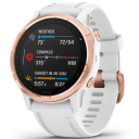 Garmin Fenix 6S PRO Glass, RoseGold/White Band