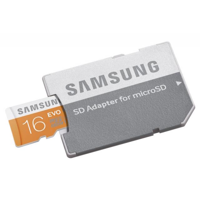 Samsung microSDHC 16GB Class10 UHS-I Evo + adapter