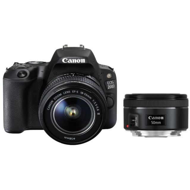 Canon EOS 200D + EF-S 18-55 DC III + EF 50 f/1,8