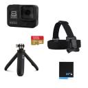GoPro Hero 8 Black Bundle, Shorty + Battery + Headstrap + 32GB microSD