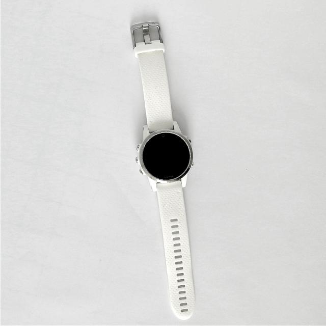 Garmin Fenix 5S Silver Optic, White band  BAZAR