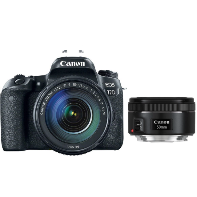 Canon EOS 77D + EF-S 18-135 IS USM + EF 50 f/1,8
