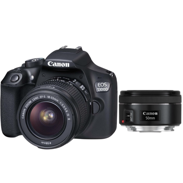 Canon EOS 1300D + EF-S 18-55 IS II + EF 50 mm f/1,8