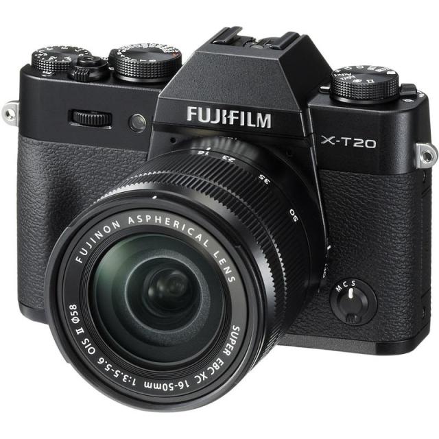 Fujifilm X-T20 Črna + 16-50 mm II