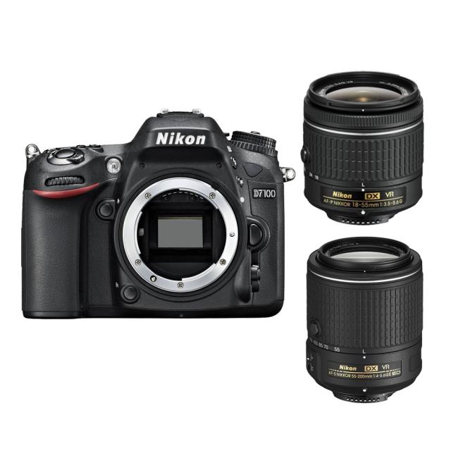 Nikon D7100 + 18-55 AF-P VR + 55-200 mm VR II