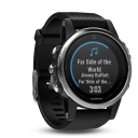 Garmin Fenix 5S silver, black band.Picture2