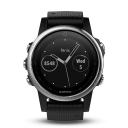 Garmin Fenix 5S silver, black band.Picture3