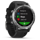Garmin Fenix 5 Plus Silver, Black Band.Picture2