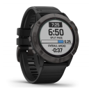 Garmin Fenix 6X Sapphire Gray/black band.Picture3